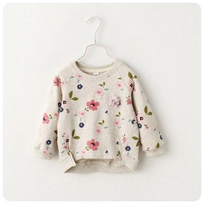 ღ瑪琪朵小舖ღ2016  女童 清新花朵 風休閒長袖T 恤上衣