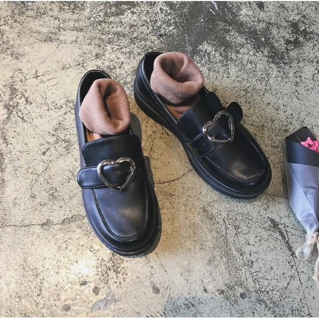 ❤春女xin 英jins 倫學669 院❤風平底軟妹原宿復古單鞋韓國ulzzang 愛心大