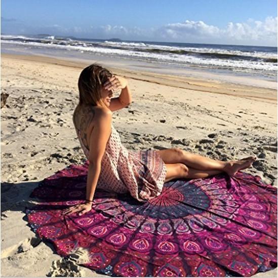 波希米亞圖騰海灘巾 海灘巾掛布波希米亞圖騰海灘巾