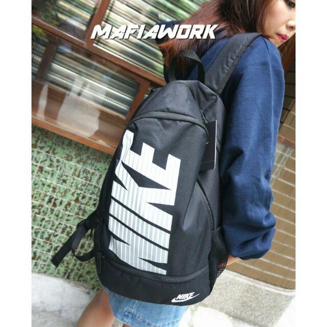 ~MAFIA WORK ~Nike 後背包大logo 黑色後背包