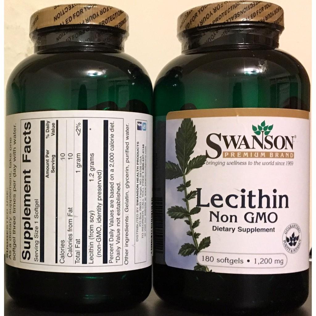 ~vitashop tw ~Swanson Lecithin 大豆卵磷脂1200mg 18