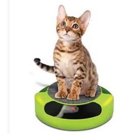 貓抓老鼠遊戲盤貓遊樂盤貓咪玩具貓抓板圓盤逗貓老鼠轉盤益智玩具