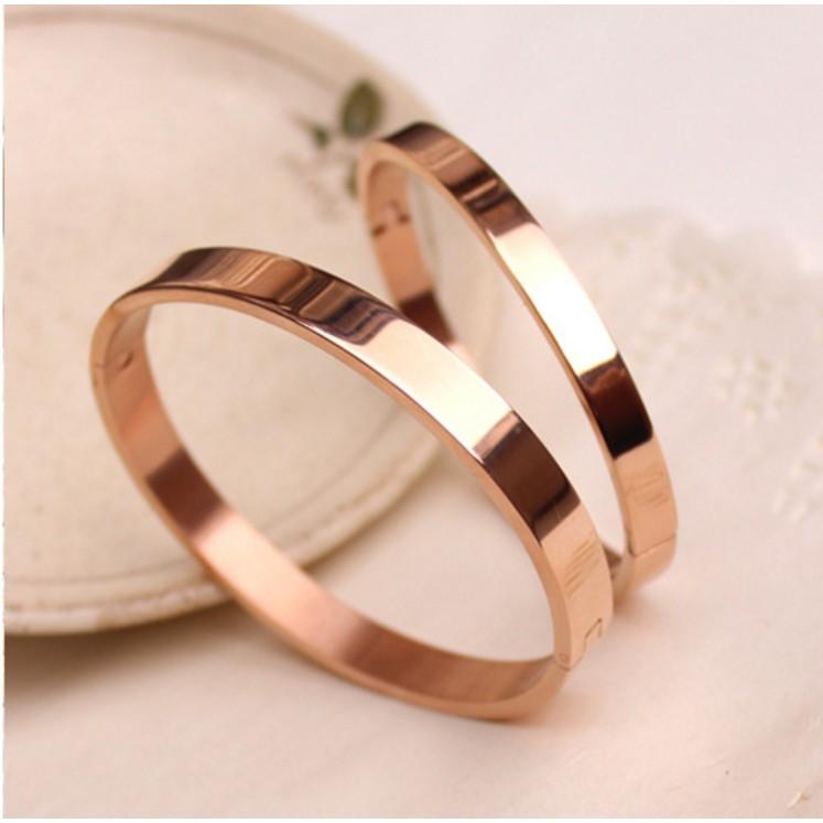 鈦鋼手鍊素面扁形開口手鐲情侶手鍊生日 手環