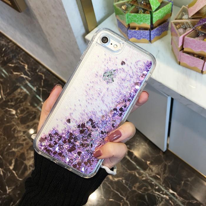 日韓iPhone7plus 流沙動態液體手機殼蘋果6s 矽膠5 防摔保護套潮女