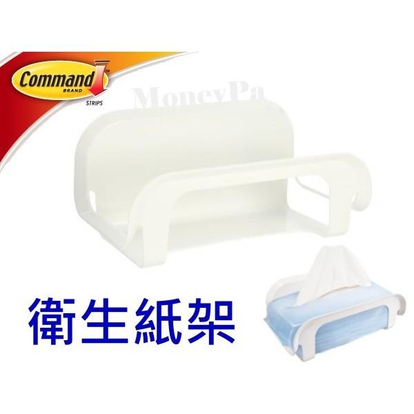 花媽市集3M 防水無痕收納系列衛生紙架17653 3M 衛生紙架浴室收納無痕防水 三角架置