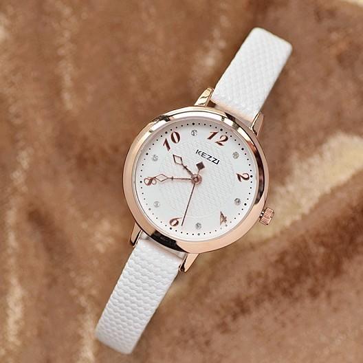 KEZZI 夏日繽紛色彩甜美可愛簡約水鑽手錶