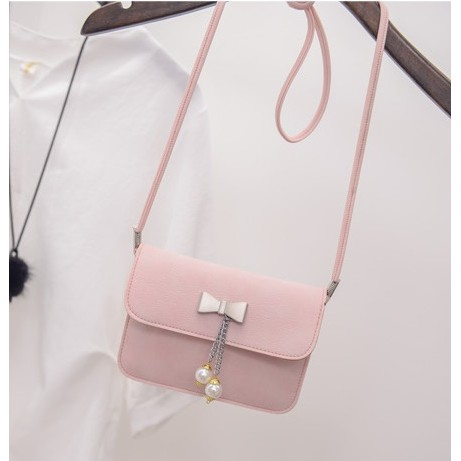 P010 可愛蝴蝶結 手機包錢包側背包橫式信封包輕鬆簡便出門