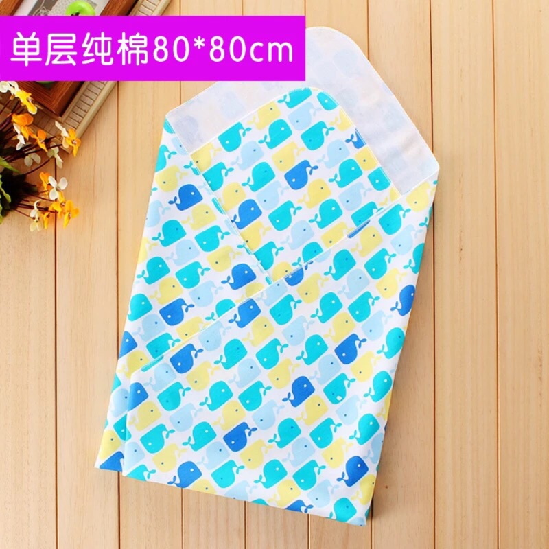 嬰兒純棉包被新生兒夏包巾薄款包裹布寶寶抱毯睡袋初生嬰兒用品