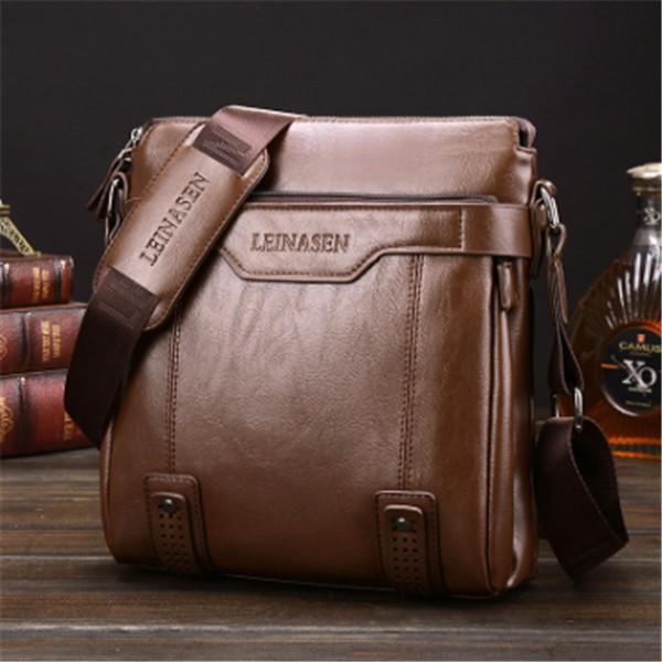 男包男士單肩包豎款斜挎包公文包男式商務 小背包
