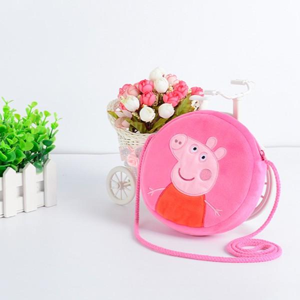 !小女孩最愛、 粉紅豬小妹佩佩豬peppa pig 刺繡斜背包兒童包包紅包袋