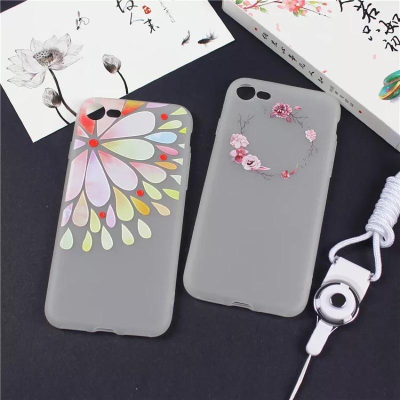 (送掛繩)iphone7 手機殼蘋果6s 手機套7plus 保護殼卡通6plus 掛繩硅膠