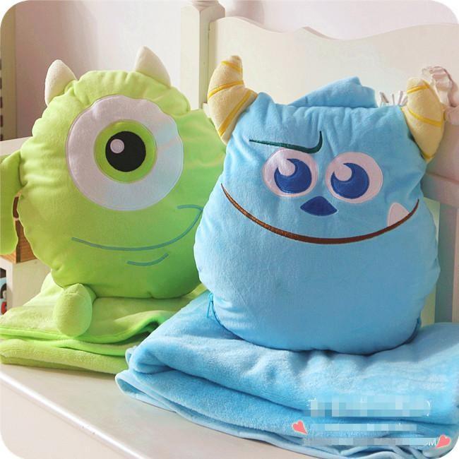 ❤️怪獸大學大眼仔毛怪蘇利文兩用抱枕毛毯棉被靠墊辦公室空調被子午安枕頭迪士尼怪獸電力 抱枕