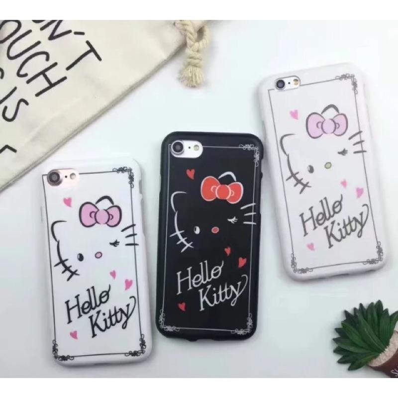 I6 6s i7 plus 卡通Kitty 磨砂軟殼iphone 手機殼