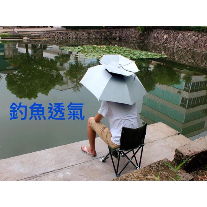 便攜遮陽傘露營登山爬山遮陽小孩大人迷彩傘釣魚帽雨傘野餐戶外傘帽