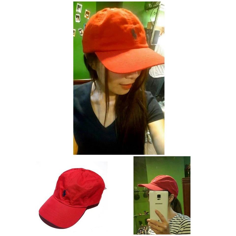 售出補貨中可 成熟紅色款POLO Ralph Lauren 女生小馬logo 棒球帽 紅色