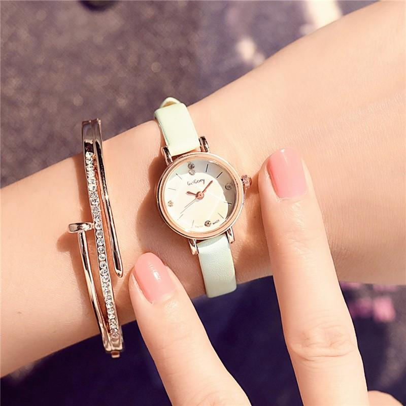 潮流學生小清新水鑽表 小巧石英表女生簡約小錶盤裝飾手錶