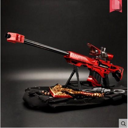 瘋狂拜金女仿真電動連發水彈槍巴雷特狙擊槍步槍兒童玩具槍可發射子彈男孩子