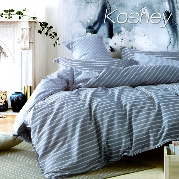 單人床包雙人被套組單人三件式單人二件式床包精梳棉~KOSNEY 布魯斯~MIT