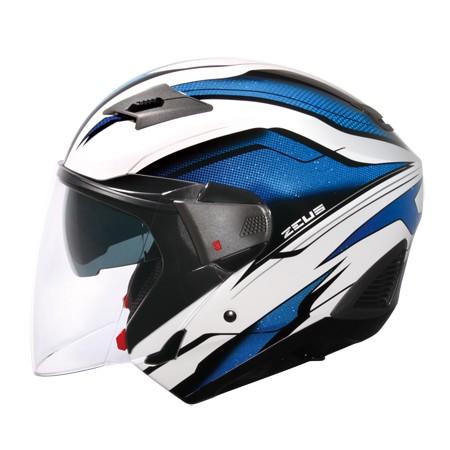 ZEUS ZS 611E TT10 白藍~雙層鏡片內層鏡片有效阻擋陽光照射