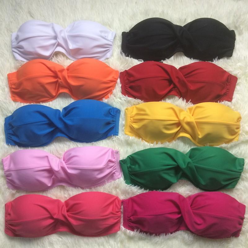 韓妞最愛10 色 性感糖果色鋼托聚攏加厚罩杯比基尼兩件套