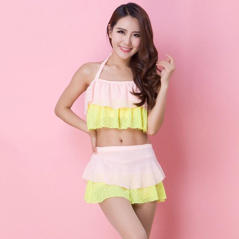 韓國比基尼游泳衣~小胸性感露腰分體溫泉泳裝3 色