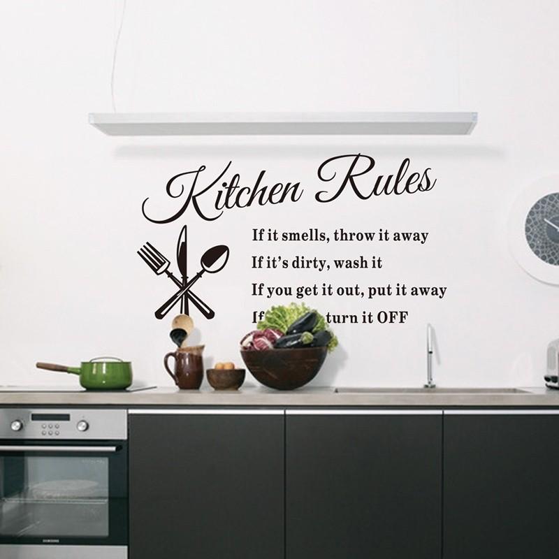 DIY 可拆卸牆貼廚房規則貼花家居飾品8203 美麗的圖案 裝修