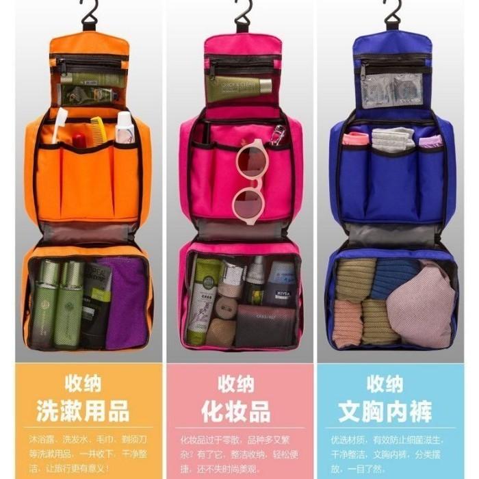 雙面防水盥洗包收納包化妝包洗漱包旅行包梳洗包萬用包包包旅行行李收納袋牙刷包沐浴乳包置物包