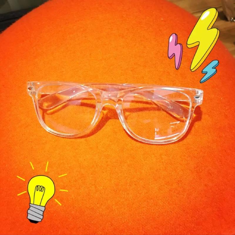 ( )韓國ulzzang 原宿zipper ~百搭透明復古鏡框簡約情侶框架眼鏡潮
