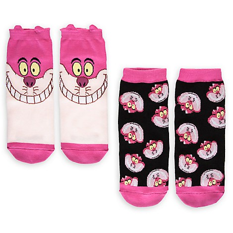S ~美國連線嗨心購Go ~官方正貨►美國迪士尼愛麗絲夢遊仙境►妙妙貓襪子組兩雙入