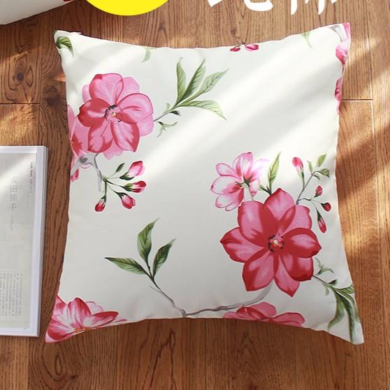 宜家純棉45 45cm 60 60cm 紅花款ikea 風抱枕套靠墊套不含枕心