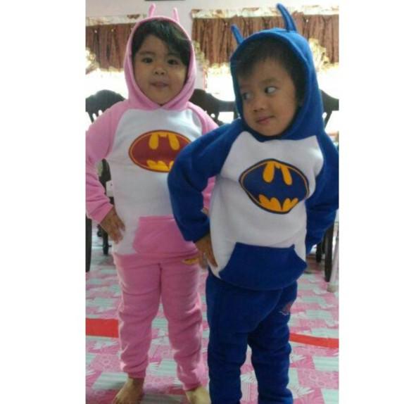 超低价! !现货 !爆款蝙蝠俠套裝,兒童卡通 套裝加絨兒童套裝