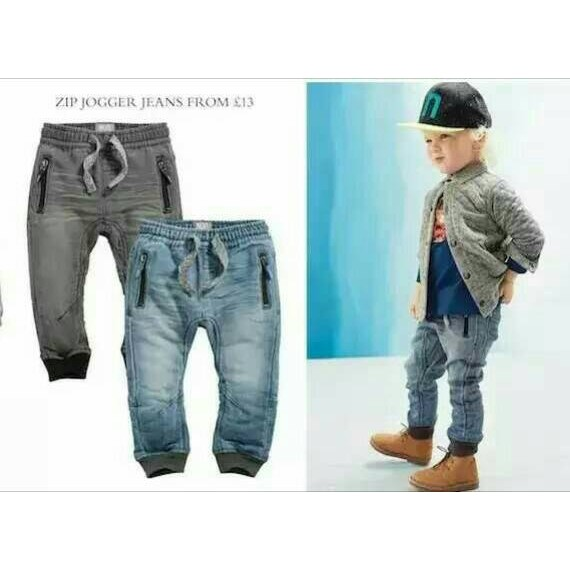 NEXT 男童細毛圈底全棉牛仔褲薄款超柔軟高