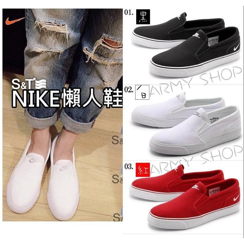 Nike Toki Slip Txt Print 一腳蹬懶人鞋黑色花卉刺繡黑白藍紅情侶款男