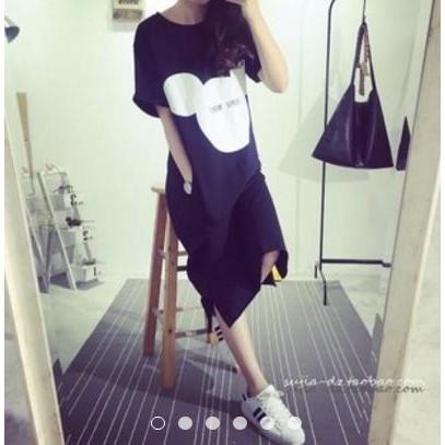 好穿 簡約~夏天家居服~大碼米奇卡通印花學院風連衣裙23M18 大 ✨sunshine ◆