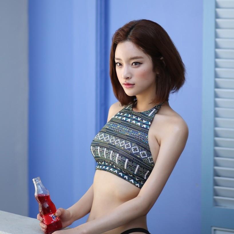 ~ ~ 女韓國復古 泳衣三角分體鋼托比基尼bikini 泳裝女泳衣