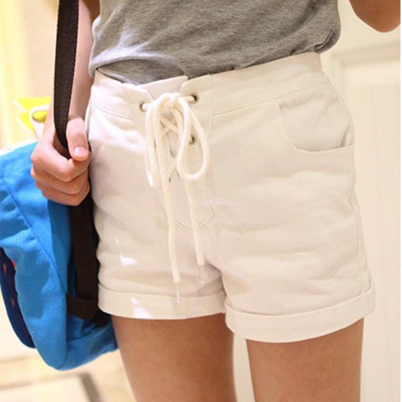 女童短褲夏款2016 新品中大童白色純棉五分褲復古高腰熱褲純棉褲子