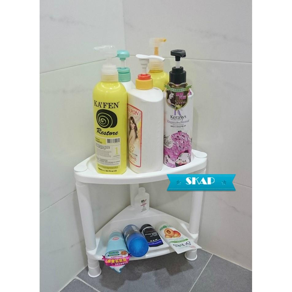 MIT  兩層三角置物架四層置物架浴室 雙層瀝水收納架轉角角落牆角衛浴瓶罐沐浴乳洗髮精洗面