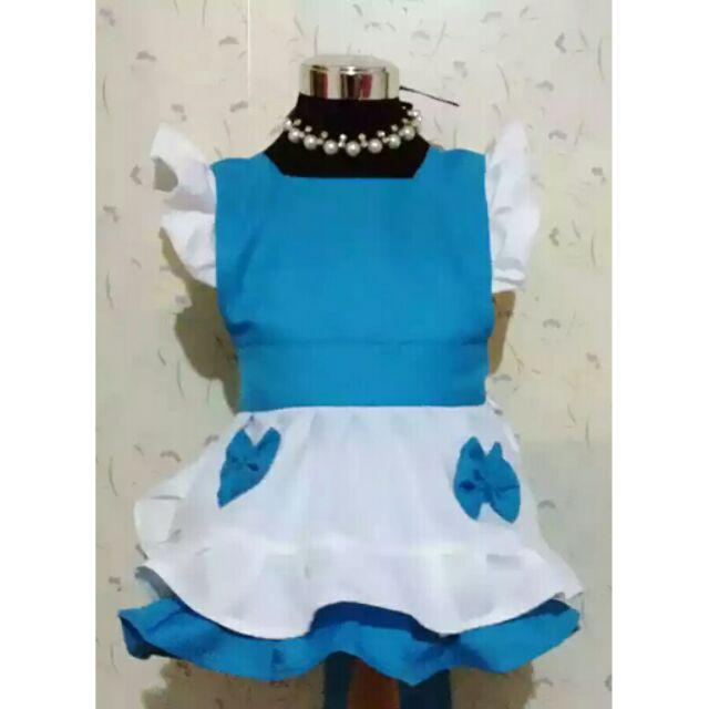 兒童畫畫衣原創 愛麗絲系列寶寶圍兜吃飯衣無袖罩衣防水圍裙親子款( )