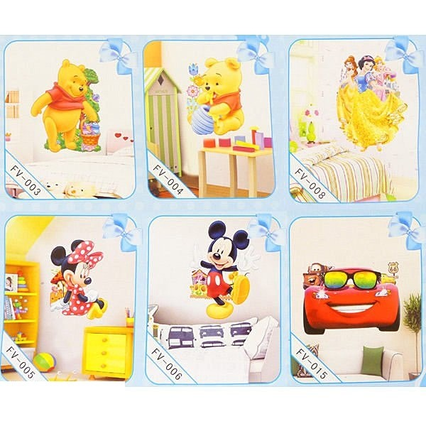 B1656 迪士尼3D 立體壁貼Disney 維尼 壁貼居家佈置裝飾貼紙窗貼立體牆貼