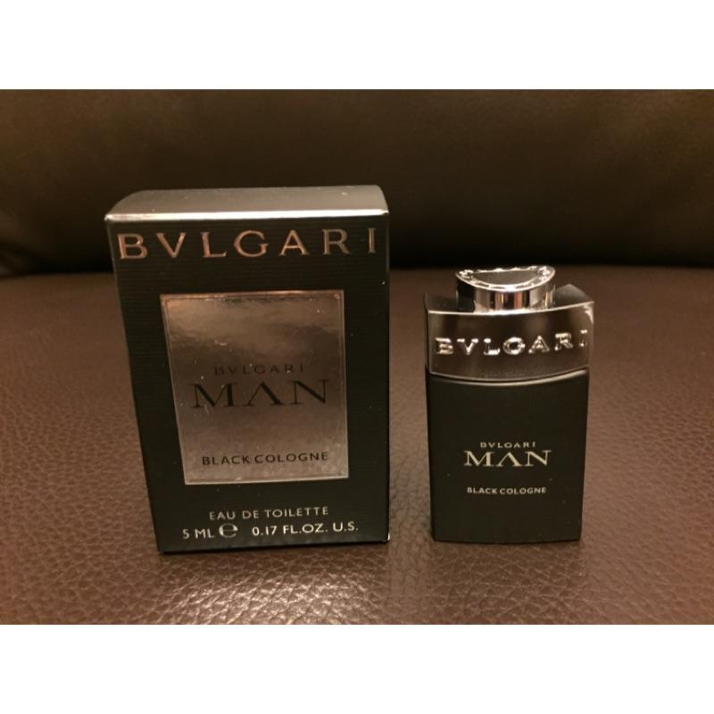 盧亞 貨BVLGARI Black 寶格麗當代冰海男性古龍淡香水小香水5mL