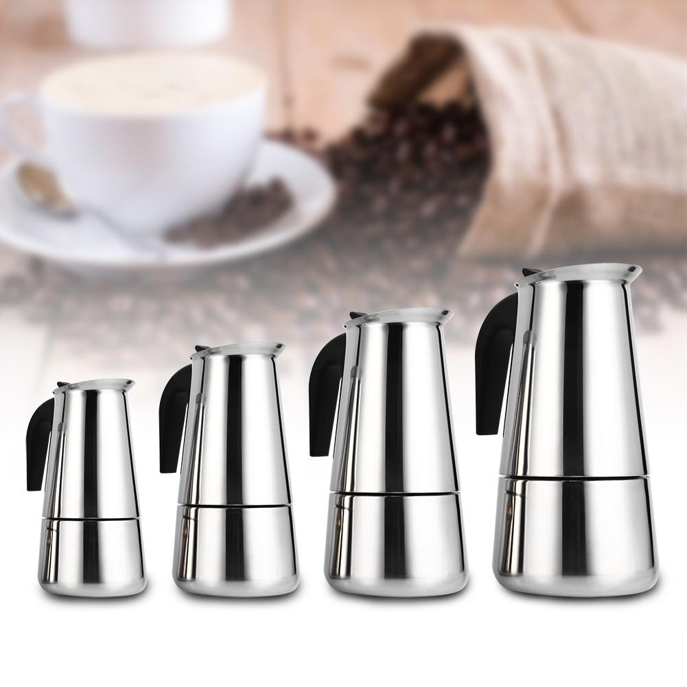 咖啡壺不銹鋼咖啡壺摩卡壺咖啡壺可放電磁爐