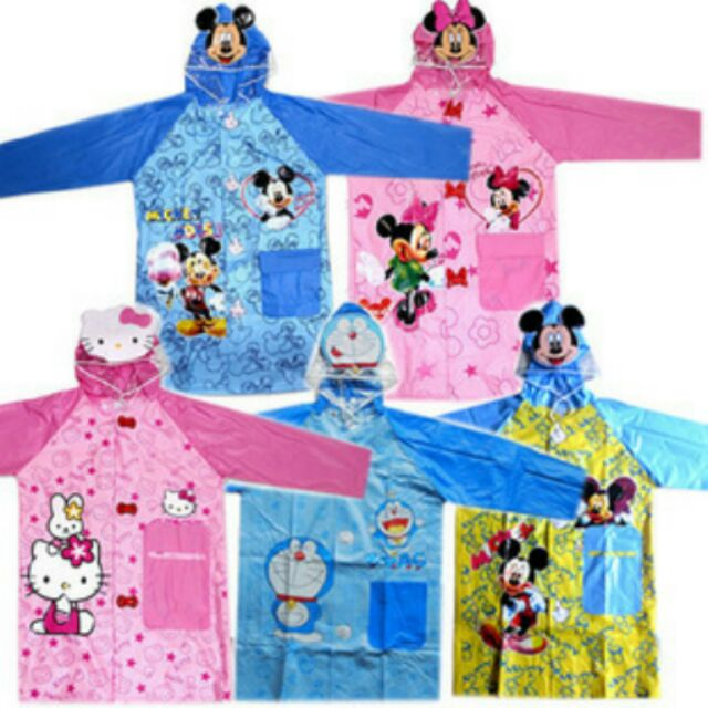 ~ ~卡通兒童雨衣雨披抽繩帶書包位冰雪奇緣多啦A 夢托瑪斯海綿寶寶等