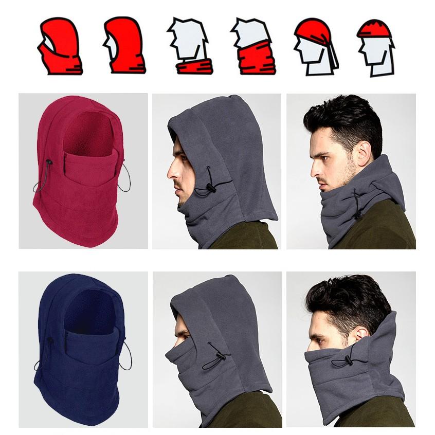 防風保暖面罩頭套帽加厚擋風雙層搖粒絨騎車頭套雙層連帽防風防寒保暖保暖面罩保暖頭套防風面罩圍