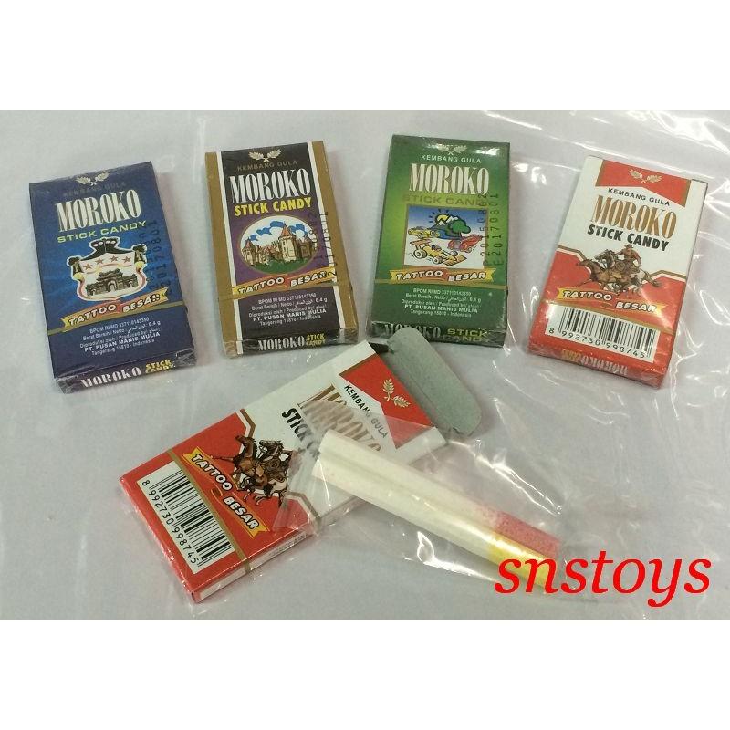 sns 古早味MOROKO 香煙水果糖水果糖水果口味20 小盒同涼喉糖涼煙糖系列1 盒2