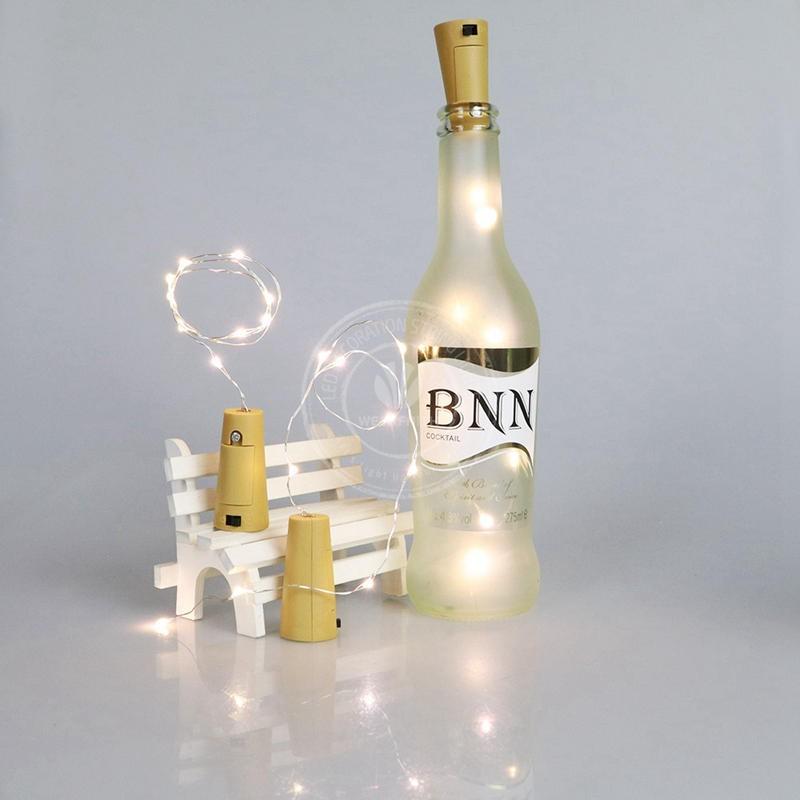 瓶塞銅線燈裝飾8 頭白光酒瓶燈串LED 瓶塞燈工藝玻璃餅擺設道具拍照道具