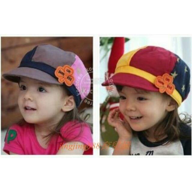 拼色棒球帽女兒童帽子棒球帽遮陽帽寶寶帽