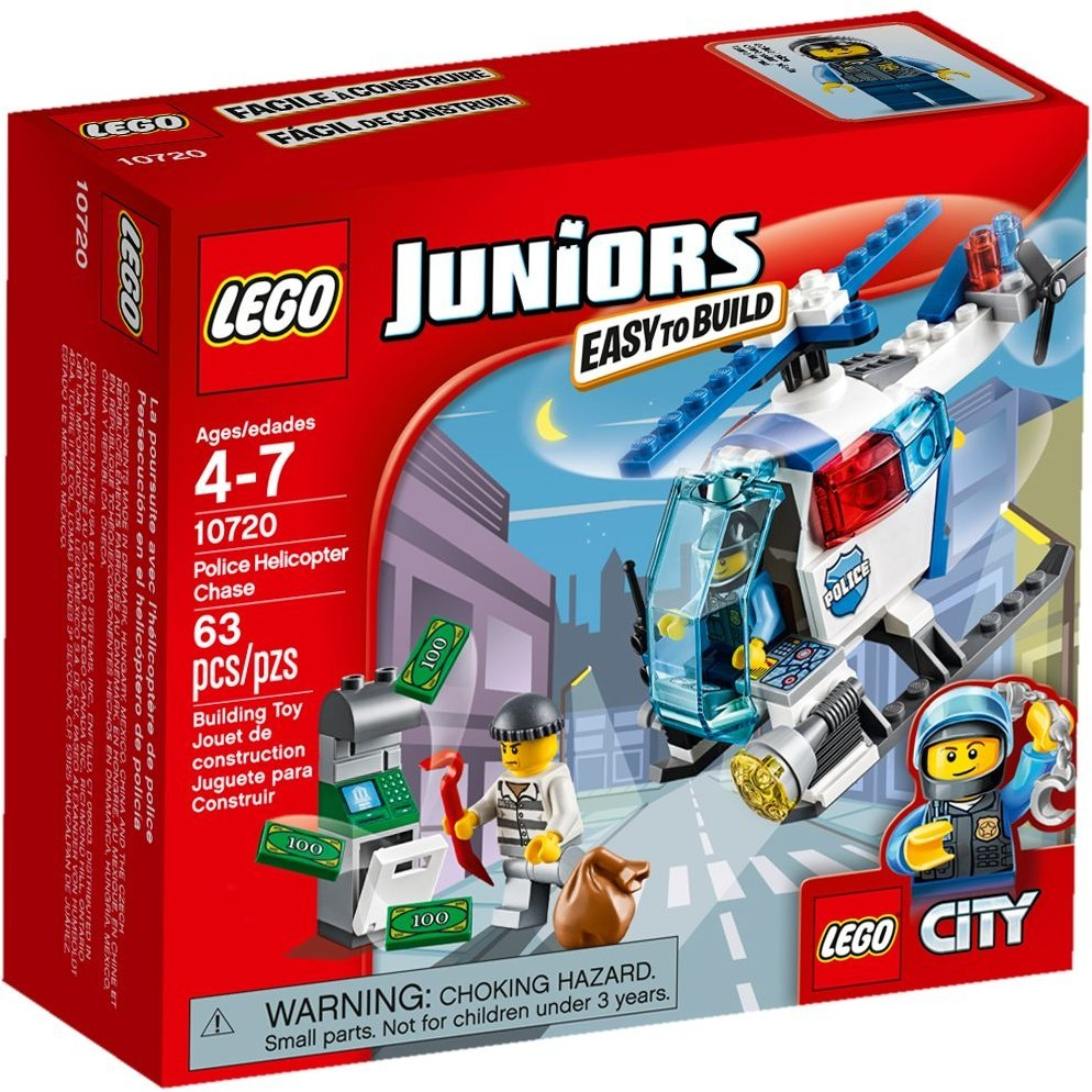 LEGO 樂高junior 系列10720 警用直升機追擊