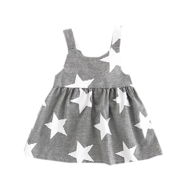 ❤ ❤ 2017  女童連衣裙小寶寶露背條紋星星背帶裙子