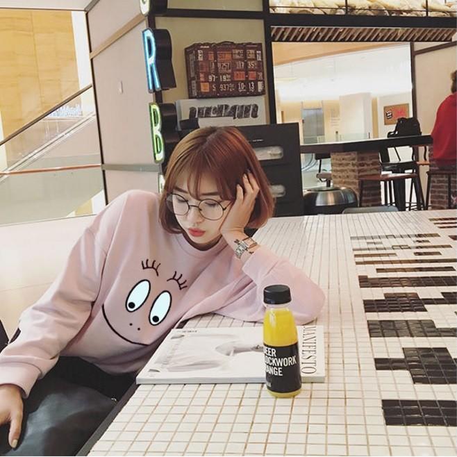 Miel ~ ~泡泡先生大臉印花長袖T 恤