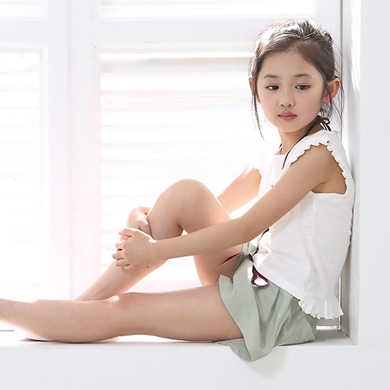 媽咪寶寶 樂棉麻套裝3 色小飛袖圓領上衣腰帶裝飾小短褲女童小清新二件套裝WiH 02050